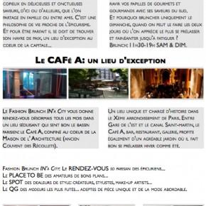 Espace détente et Fashion brunch au café A dans la Maison de l'Architecture Samedi 10 dimanche 11 novembre 2012